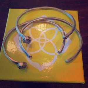 Kendra Scott Silver Bangle Bracelet Set